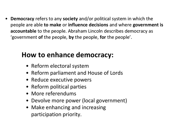 Preview of Unit 1, Democracy and participation, pressure groups