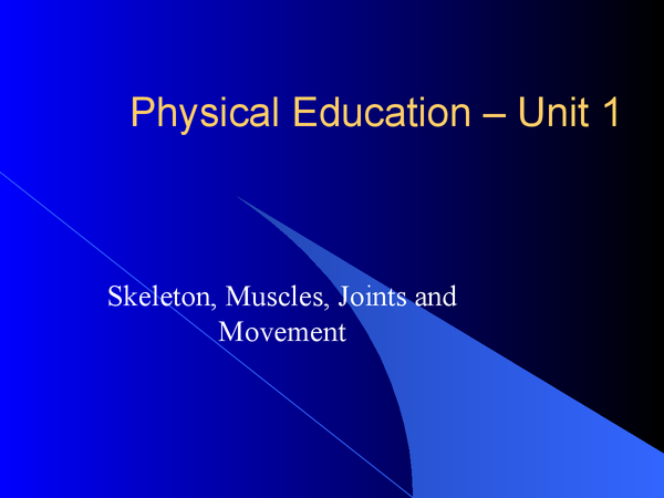 Preview of Unit 1 Physical Education