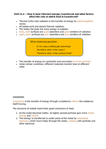 Preview of Unit 1 revision notes - section 11.1 (AQA)