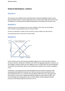 Preview of Unit 2 AQA Economics The National Economy January 2013