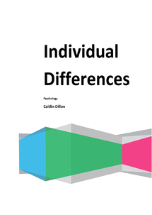 Preview of Unit 2 Individual Differences ALL NOTES