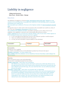 Preview of Unit 2 | Liability in Negligence (AQA)