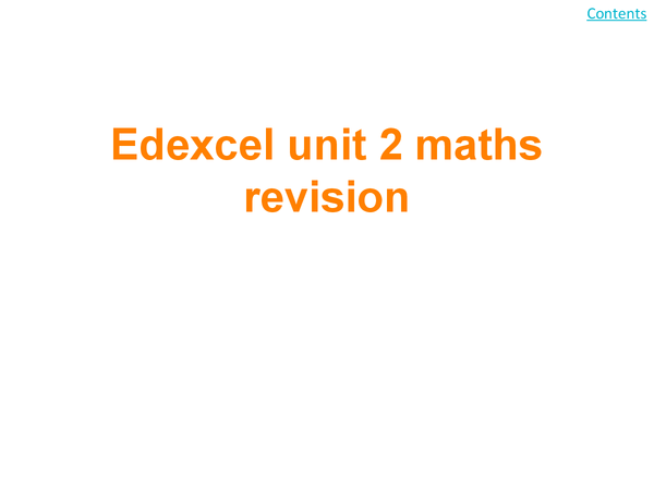 Preview of unit 2 maths revision