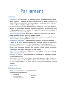 Preview of Unit 2 - Parliament