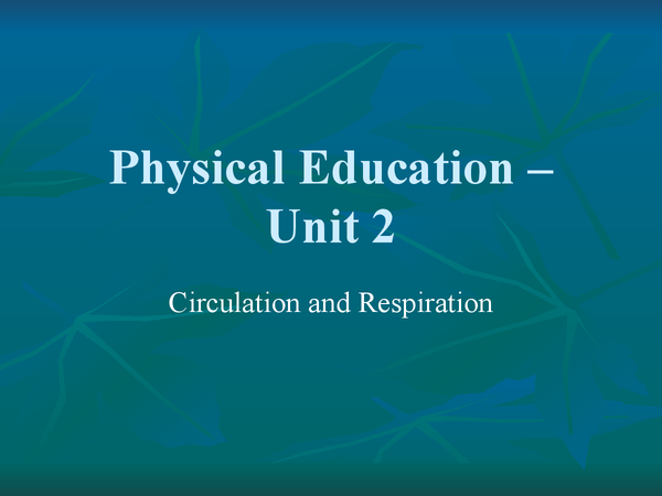 Preview of Unit 2 Physical Education