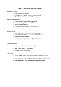 Preview of Unit 2 - Practical Skills