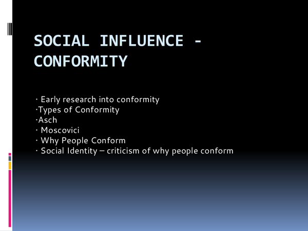 Preview of Unit 2 Social Influence - Conformity