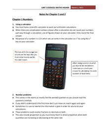 Preview of Unit 3 Edexcel Maths notes for Chapter 1 and 2