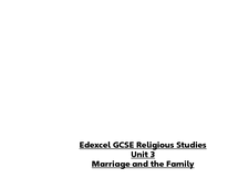 Preview of Unit 3 Edexcel Religion and life notes