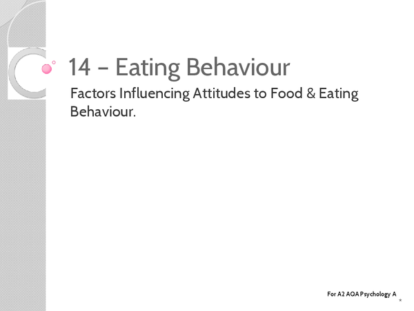 Preview of Unit 3: Topic 14a Factors Influecncing Attitudes to Food - Key Terms