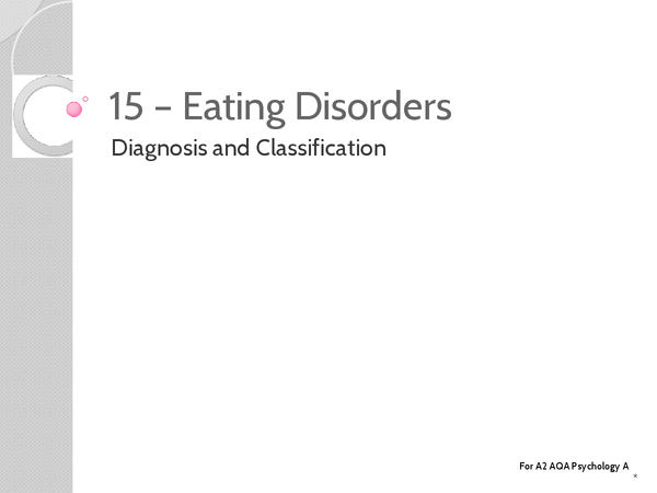 Preview of Unit 3: Topic 15a Diagnosis and Classification - Key Terms