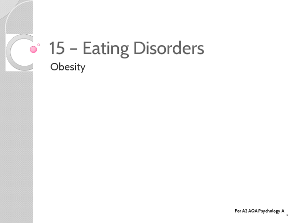 Preview of Unit 3: Topic 15b Obesity - Key Terms
