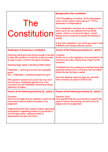 Preview of Unit 3c America. Politcs a2