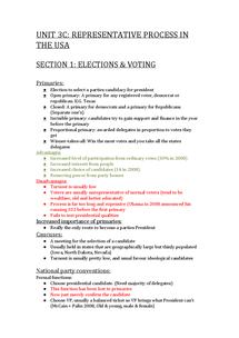 Preview of UNIT 3C Representative Process In The USA