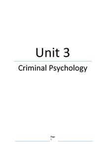 Preview of Unit 4 Edexcel Psychology Complete RN on Criminal Psychology