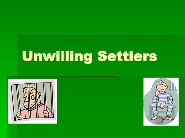 Preview of Unwilling settlers