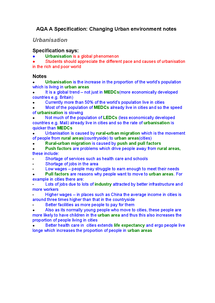 Preview of Urbanisation Notes