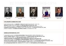 Preview of US Presidents 1945-1974, civil rights key dates, Vietnam & Korea key dates