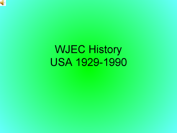 Preview of USA question 1 WJEC history