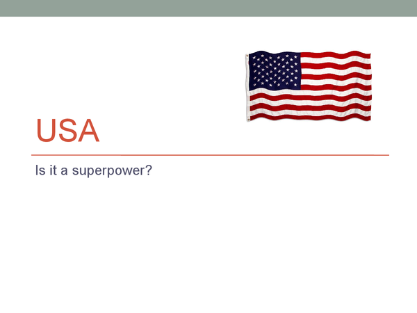 Preview of USA - Superpower