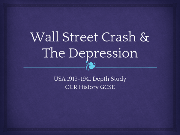 Preview of USA: The Wall Street Crash