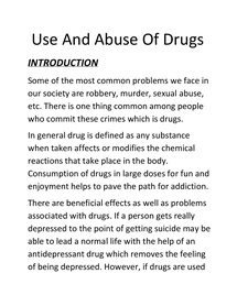 Preview of Use and Abuse of Drugs