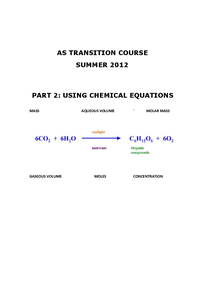 Preview of USING CHEMICAL EQUATIONS