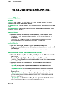 Preview of Using Objectives and Strategies Notes