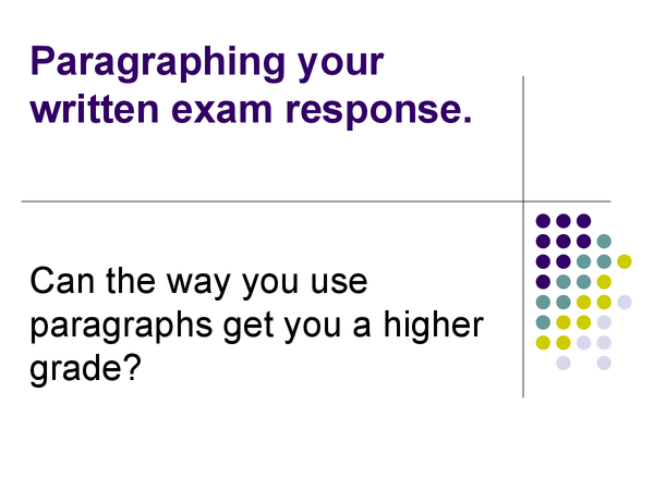 Preview of Using Paragraphs in GCSE
