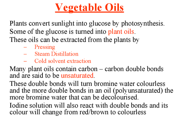 Preview of Vegetable Oils
