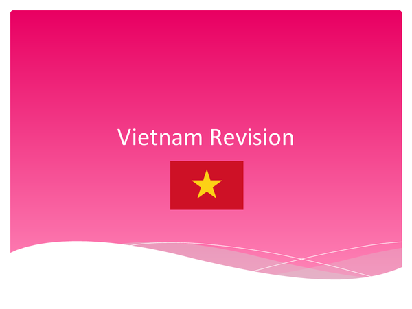 Preview of Vietnam Revision