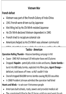 Preview of Vietnam War Revision Cards