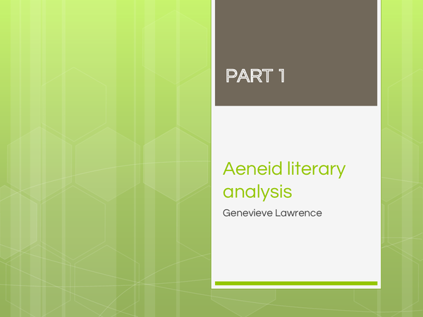 Preview of Virgil's Aeneid Literary Analysis for exam
