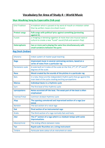 Preview of Vocabulary for Area of Study 4 - Music - Edexcel