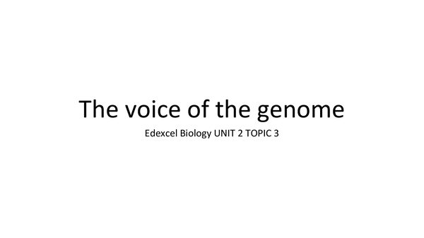Preview of Voice of the genome (Topic 3 Revision Powerpoint)