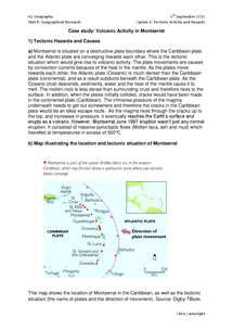 Preview of Volcanic Activity in Montserrat - Detailed Case Study