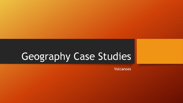 Preview of Volcanic Eruption Case Studies
