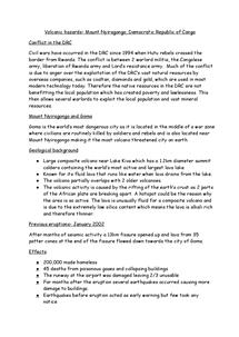 Preview of Volcanic hazards: mount Nyriagongo case study