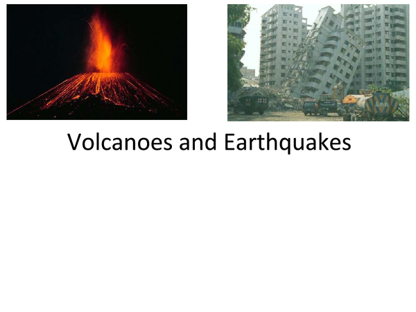 Preview of Volcano and Earthquake revision