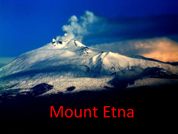 Preview of Volcano case study: Mount Etna