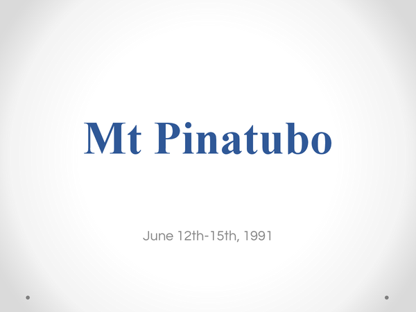 Preview of Volcano case study: Mount Pinatubo