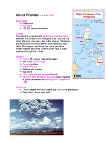 Preview of Volcanoes Case Study