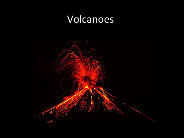 Preview of Volcanoes presentation