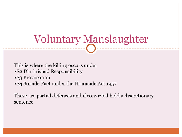 Preview of Voluntary Manslaughter OCR A2 LAW
