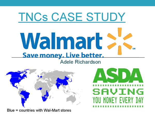 Preview of Wal-Mart Case Study A2 Geography