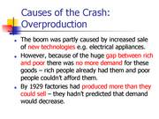 causes of the wall street crash essay