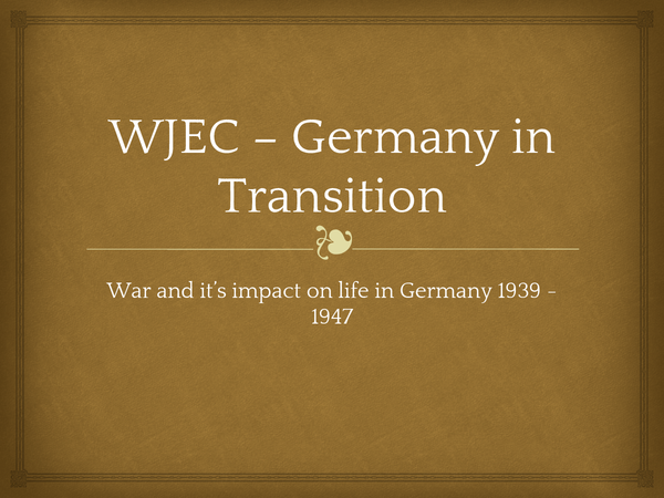 Preview of War and it;s impact on life in Nazi Germany 1939-1947