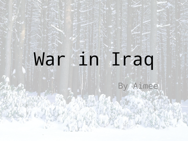 Preview of war in iraq