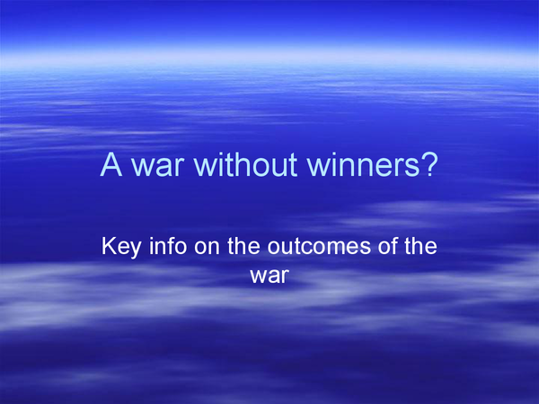 Preview of was the Korean War a war without winners?