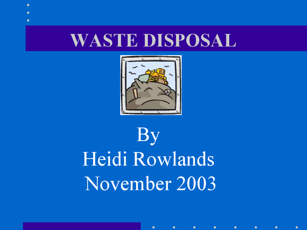 Preview of WASTE DISPOSAL